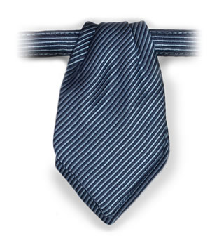 Russell Stripe Pointed Mini Ascot