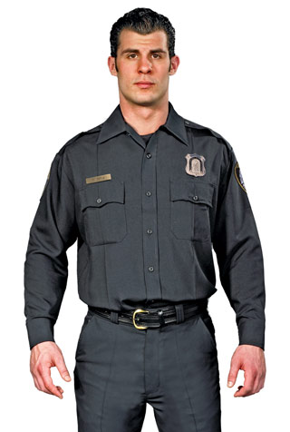 LAPD Style Long Sleeve Performance Duty Shirt Men's