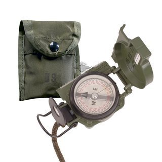 Gi Lensatic Compass With Pouch