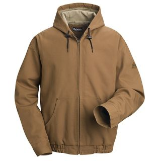 Brown Duck Hooded Jacket - EXCEL FR ComforTouch