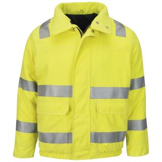 Hi Vis Lined Bomber Jacket with Reflective Trim - CoolTouch 2