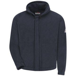Zip-front Hooded Fleece Sweatshirt - Modacrylic blend