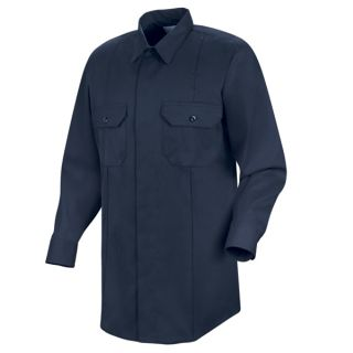 New Dimension Concealed Button Front Long Sleeve Shirt
