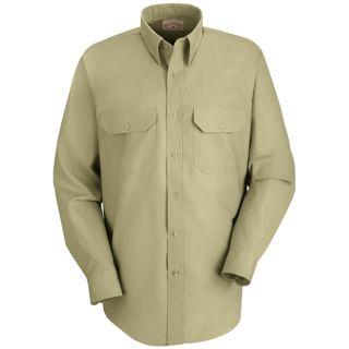 Men's Solid Dress Uniform Shirt