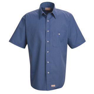 SP84 Men's Mini-Plaid Uniform Shirt