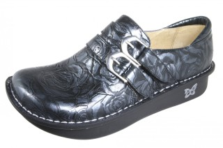 Alli Black And Silver Rose Shoe
