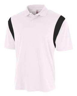 Men's Color Blocked Polo Shirt w/ Knit Collar
