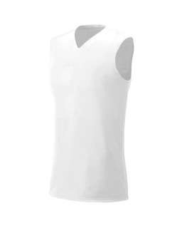 Ladie's Moisture Management V Neck Muscle Shirt
