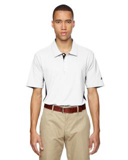 Mens Puremotion® Colorblock 3-Stripes Polo