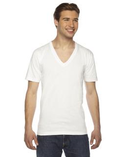 Unisex Fine Jersey Short-Sleeve V-Neck