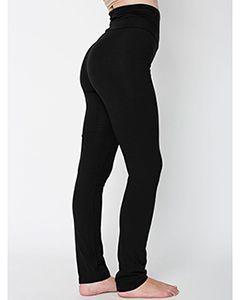 Ladies Cotton/Spandex Jersey Straight Leg Yoga Pant