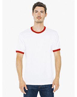 Unisex Fine Jersey Short-Sleeve Ringer T-Shirt
