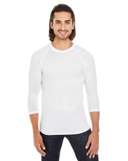 Unisex Poly-Cotton 3/4-Sleeve Raglan T-Shirt