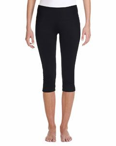 Ladie's Cotton/Spandex Capri Fit Legging