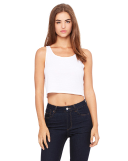 Ladie's Poly-Cotton Crop Tank