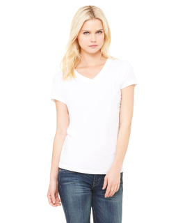 Ladie's Jersey Short-Sleeve V-Neck T-Shirt