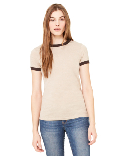 Ladie's Jersey Short-Sleeve Ringer T-Shirt