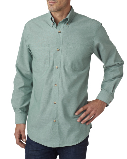 Men's Yarn-Dyed Chambray Woven