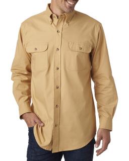 Men's Solid Flannel Shirt