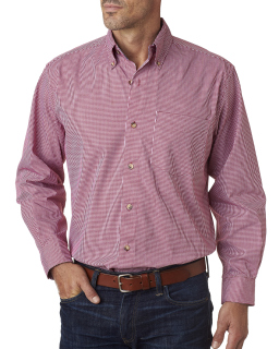 Men's Yarn-Dyed Micro-Check Woven
