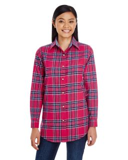 Ladie's Yarn-Dyed Flannel Shirt