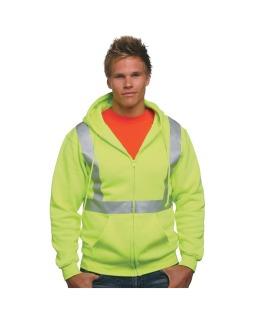Hi-Visibility Full Zip Hooded Sweatshirt