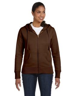 Ladie's 9 Oz. Organic/Recycled Full-Zip Hood