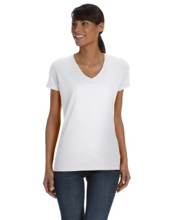 Ladie's 5 Oz. Hd Cotton™ V-Neck T-Shirt