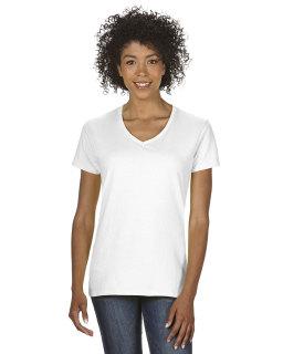 Ladie's Heavy Cotton™ 5.3 Oz. V-Neck T-Shirt