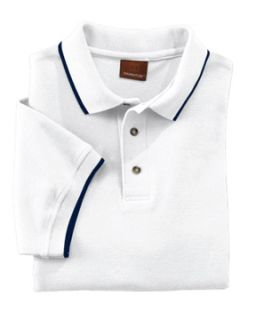 Adult 6 Oz. Short-Sleeve Pique Polo With Tipping