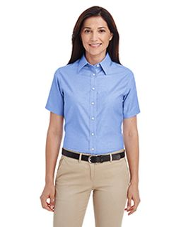 Ladie's Short-Sleeve Oxford With Stain-Release