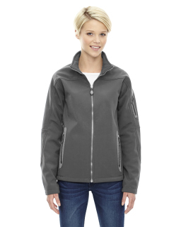 Ladies Three-Layer Fleece Bonded Soft Shell Technical Jacket