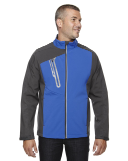 Men's Terrain Colorblock Soft Shell With Embossed Print