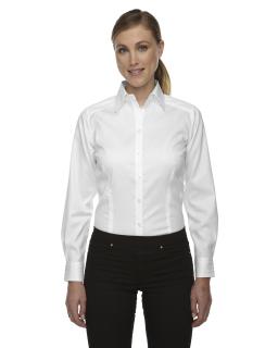Ladie's Wrinkle-Free Two-Ply 80's Cotton Taped Stripe Jacquard Shirt