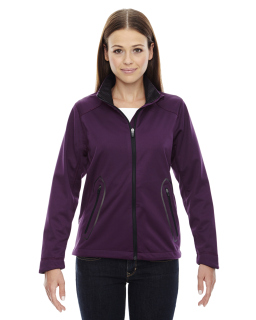 Ladie's Splice Three-Layer Light Bonded Soft Shell Jacket With Laser Welding