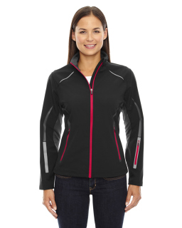 Ladie's Pursuit Three-Layer Light Bonded Hybrid Soft Shell Jacket With Laser Perforation