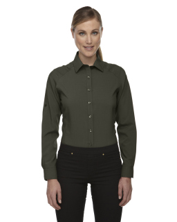 Ladie's Rejuvenate Performance Shirt With Roll-Up Sleeves
