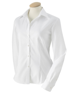 Ladie's Long-Sleeve Non-Iron Pinpoint