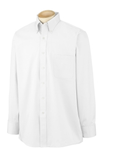 Men's Long-Sleeve Blended Pinpoint