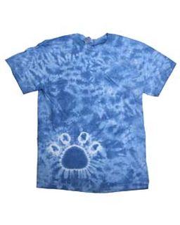 Short Sleeve Paw Print Tie Dye T-Shirt