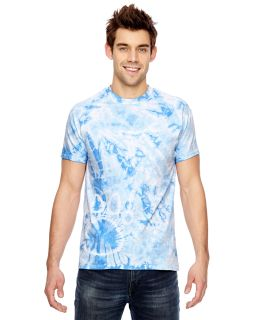 Adult Adult Team Paw Print Tie-Dyed T-Shirt