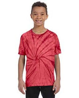 Youth 5.4 Oz., 100% Cotton Spider Tie-Dyed T-Shirt