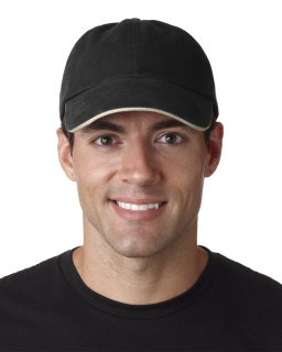 Adult Classic Cut Brushed Cotton Twill Unstructured Sandwich Cap