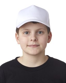 Youth Classic Cut Cotton Twill 5-Panel Cap