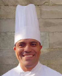"""European-curved top Chef hat 9"""" Tall, Expandable"""