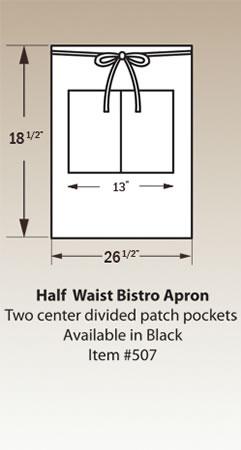 Half Waist Bistro Apron