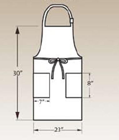 Adjustable Bib Apron, Two Pocket