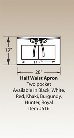 Half Waist Apron,Two pocket