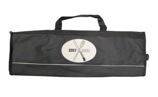 Black Nylon 8 Pocket Knife Bag with Chef Code Logo
