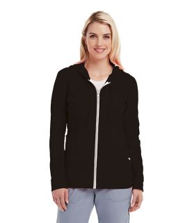 3pkt Zip Front Stylized Hoodie